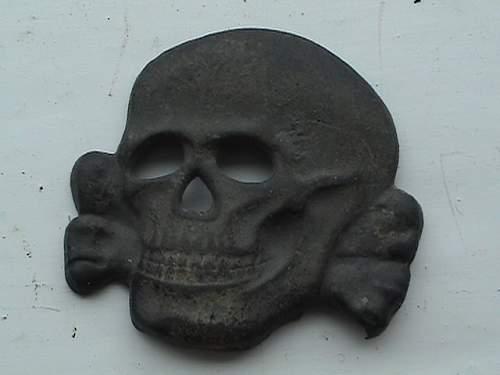 "SS cap skull ""Salty"" one"