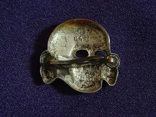 Deschler M1/52 Skull. Confirmation Of Originality.