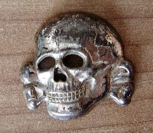 unknown original SS skull