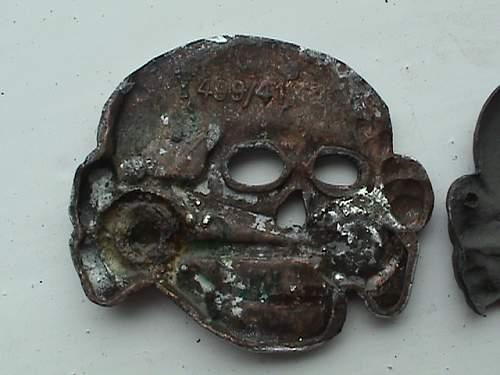 ss skulls battlefield finds 499/41 marked