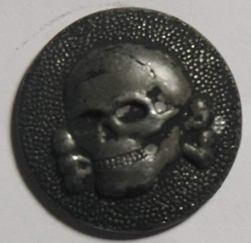 Ss vt skull button for cap