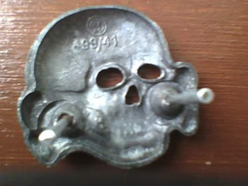 original zimmerman totenkopf with replaced pins?