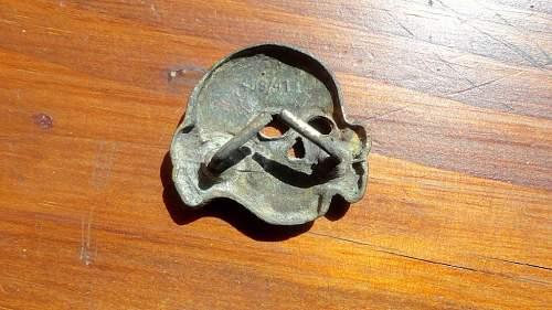 Patina on skull