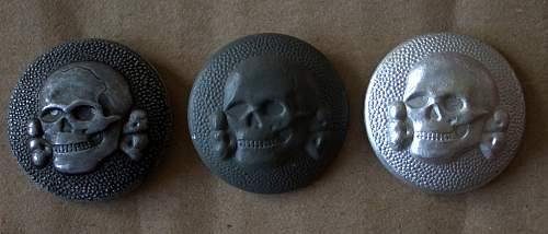 SS Cap Buttons 1194/40 and 1194/39