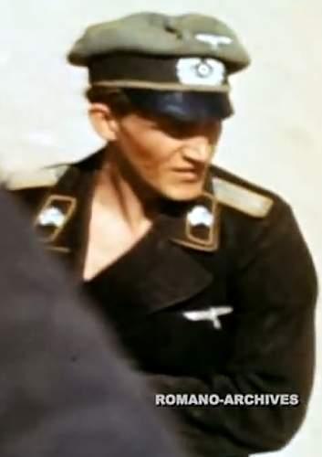 ss cap skulls in panzer collar tabs