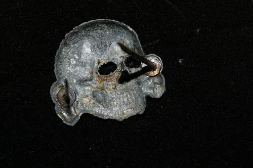 Totenkopf RZM 1/52 ground dug relic