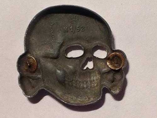 Original RZM M1/52 SS deathshead