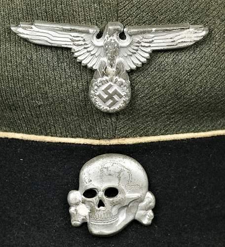 Fake Skull on Black SS Cap
