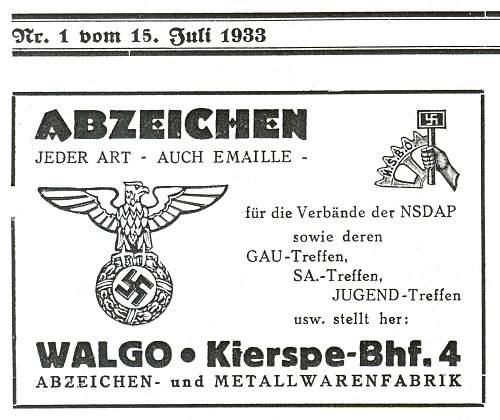 1927 Hakenkreuzkokarde, eagle badge variations.
