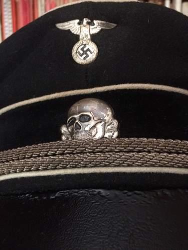 early SS visor cap eagle