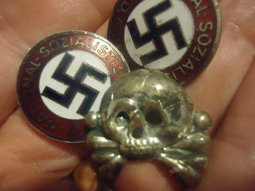 Is this waffen ss and NSDAP badges are original?