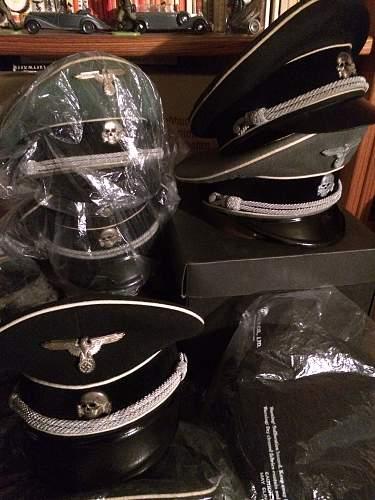 SS Metal Visor Insignia Skull & Eagle Identification List