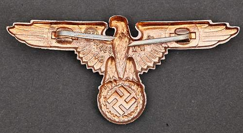 Zimmermann badges of wartime make, with finish