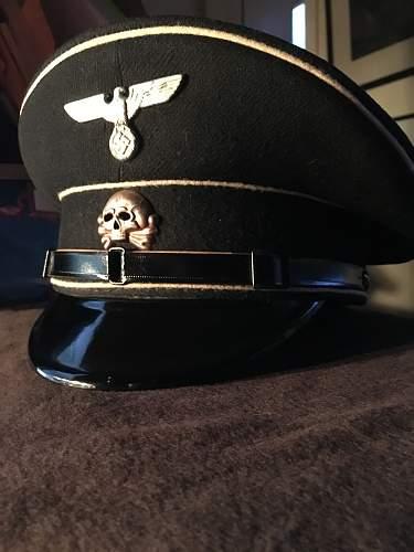 Danziger Totenschaedel,  SS Shaftmuetze, Lederschirm