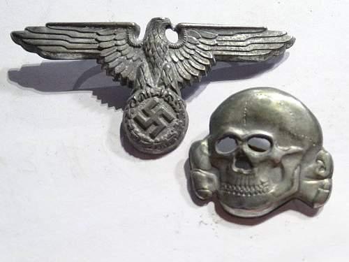 Need info ,SS Visor Cap Eagle and Skull ! Real or Fake ?