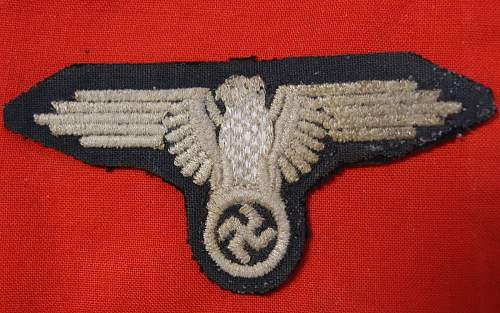 Click image for larger version.  Name:WWII German Waffen-SS Officers Tunic Sleeve Eagle (Back).jpg Views:63 Size:205.5 KB ID:1002664
