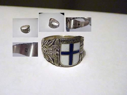 SS Nordland Finnish ring