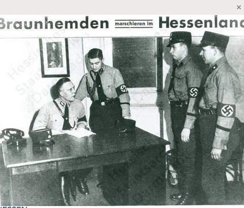 SS in Hessen, Summer 1932  Notice kepi with piping.