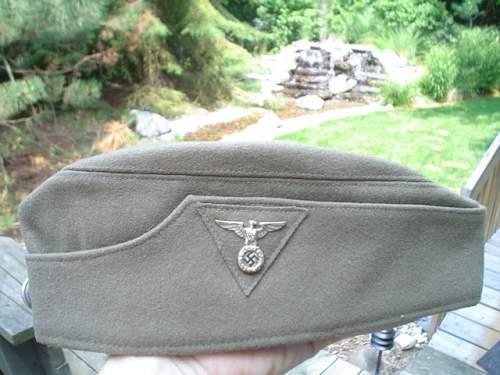 SS-VT Feldmutze with sewn in RZM Tag