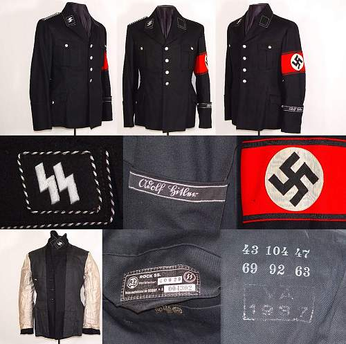 Waffen SS Feldbluse and Skull Cap found. Fake or real? Please Help!