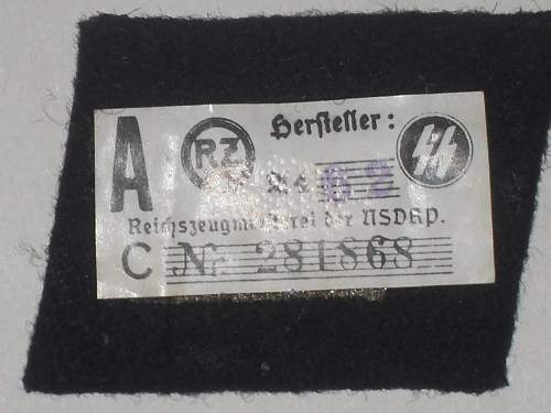 SS collar tabs for viewing.