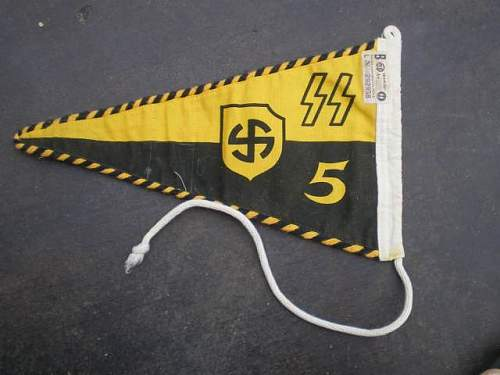 SS Pennant w/RZM Tag: Authentic? For a Staff Car?