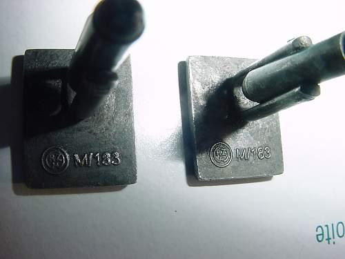SS Nazi German Silver Cuff Links