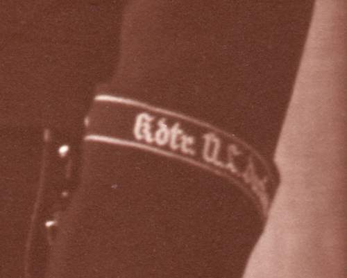 Would like opinions on partial Dachau cuff title...