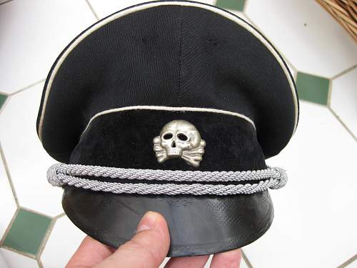 black ss officers cap,opinions please