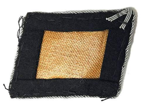 SS Officers Bullion Collar Patch