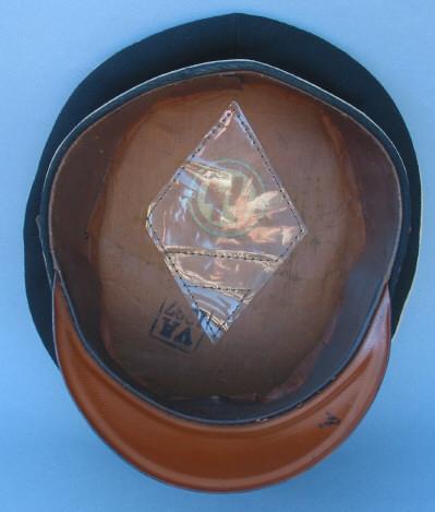Orange Oilcloth NCO Visor
