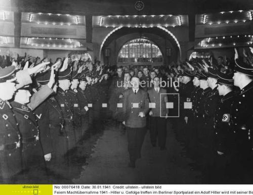 Black SS uniform in wear, 1943