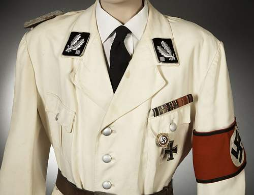 White SS Brigadefuhrer's Summer Tunic for Sale