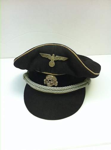 Grey SS enlisted/NCO cap with runic interior