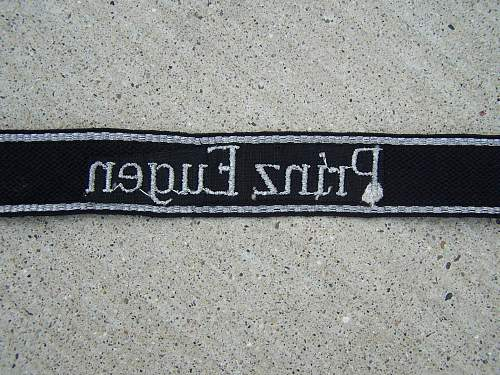 Is this an authentic SS cufftitle?