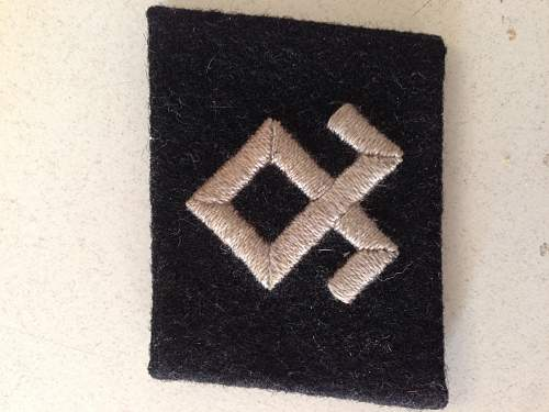 SS Prinz Eugen 7. SS-Freiwilligen-Gebirgs-Division Collar Tab