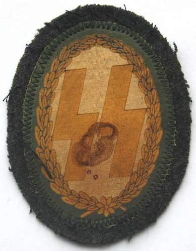 ss shoulder badge
