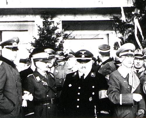 The SS white cap in wear
