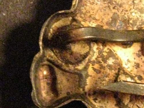 pith helmet shield and totenkopf pin