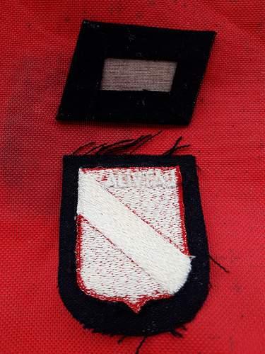 Latvian Fire Cross Collar Tab.....