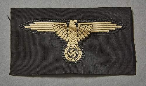 Waffen SS tropical sleeve eagle