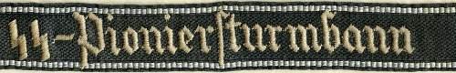 SS-Pioniersturmbann cuff title RZM version ..