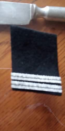 Fleamarket find: SS collar tab, please Help !