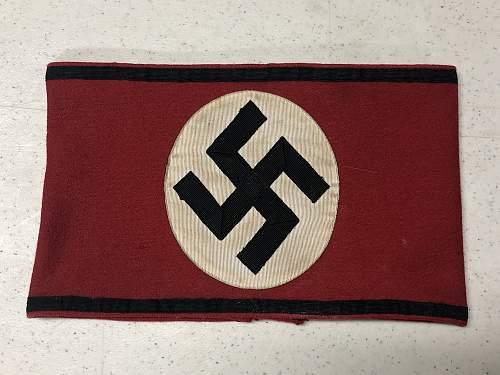 SS Kampfbinde originality.