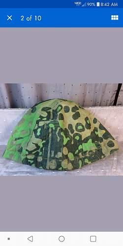 """Very rare"" SS helmet cover on ebay"