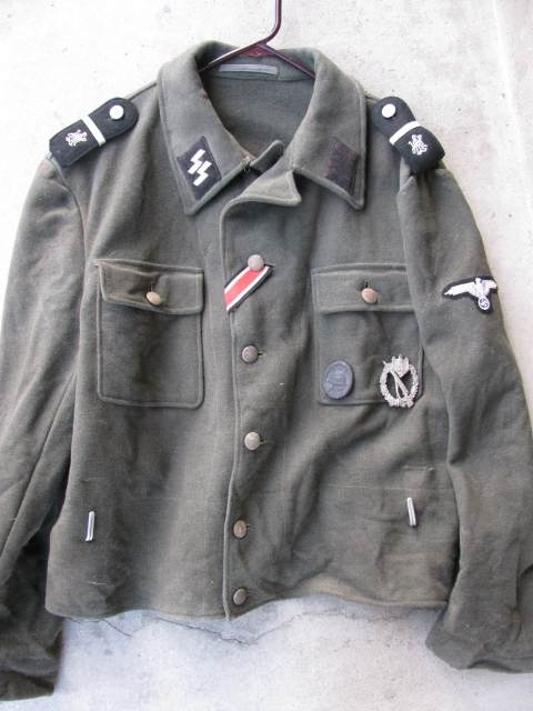 Waffen Ss Late M44 Model Tunic For Inspection