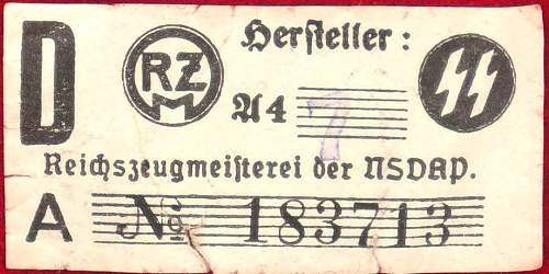 SS-armband with RZM-tag - genuine or fake?