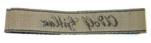 Waffen~ss tabs and ah cuffband