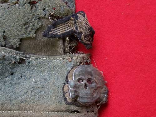 SS M40 Estonian volunteer feldmutze salty- attic found