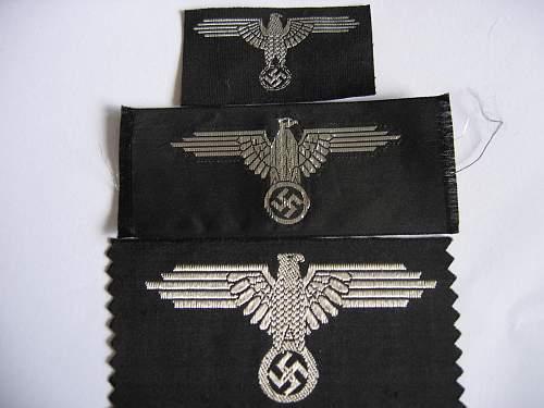 Three mint  Belgium locally made machine woven ss eagles